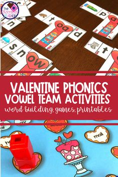 Don't you LOVE to teach long vowel teams? Valentine's Day is the perfect time to practice these whether you're teaching 1st grade or 2nd grade! This unit is FULL of fun activities like a vowel pair word sort, a word building activity, games, printables, and more!  All activities are suitable for phonics centers, stations,or rotations! Keep your first grade or second grade students engaged and learning during the month of February! {worksheets}