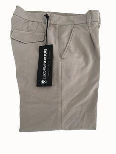 EUROPEAN CULTURE pantalone donna begie felpa garzata 96% cotone 4% lycra MADE IN…