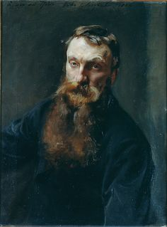 """John Singer Sargent (American, 1856–1925). Auguste Rodin, 1884. Musée Rodin, Paris 