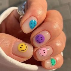Simple Acrylic Nails, Summer Acrylic Nails, Best Acrylic Nails, Pastel Nails, Acrylic Gel, Spring Nails, Summer Nails, Nagellack Design, Nagellack Trends