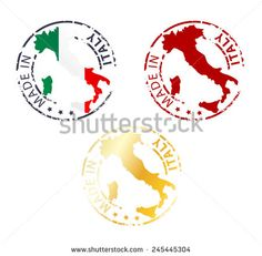 made in Italy stamp - stock vector