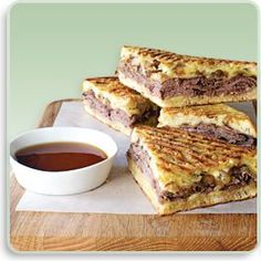 French dip paninis. So unbelievably tasty!!