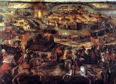 Spain / Battles, Knights..TSiege of Maastricht (1579)(Eighty Years' War).The Siege of Maastricht (present-day the Netherlands), was a battle of the Eighty Years' War which lasted from March 12 - July 1, 1579. In 1579 the city of Maastricht was in the hands of the Dutch rebels, who favoured the Protestant Reformation. On March 12, 1579 the Spanish General Alexander Farnese started to lay siege to the city. In the night of 29 June Farnese managed to get into the city.