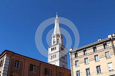 Ghirlandina bell tower, symbol of Modena, Italy