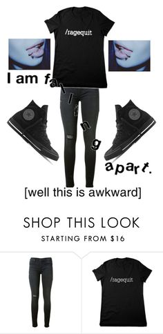 """""""Just finnished the PSAT test thing"""" by marina-hxpe ❤ liked on Polyvore featuring Hudson and Converse"""