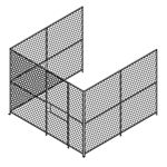 3 wall Woven Wire Mesh Partition, Security Cage
