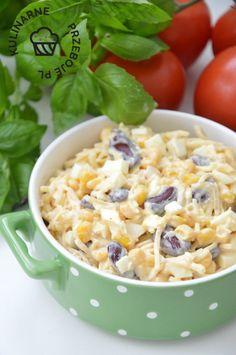 Orzo, Veggie Dishes, Vinaigrette, Salad Recipes, Potato Salad, Macaroni And Cheese, Grilling, Salads, Veggies