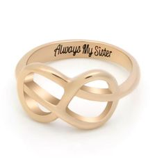 Double Infinity Ring for Daughter Promise Ring Always My Daughter Engraved on Simple Infinity Ring Infinity Symbol Ring TZARO-Jewelry Daughter Ring Infinity Ring