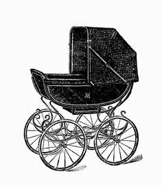 Digital Stamp Design: Free Baby Digital Stamp: Vintage Graphic Baby Carr...