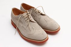 Mark McNairy Stone Suede Longwing Shoes