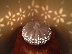 Ceramic pumpkin light