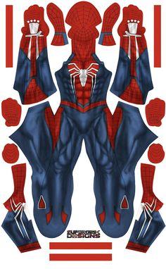 Spider-Man - Insomnia Game (Black Parts) - Aesthetic Cosplay, Inc. New Spiderman Suit, Black Spiderman, Spiderman Costume, Amazing Spiderman, Spiderman Web, Avengers Costumes, Iron Spider Costume, Spaider Man, Lego Custom Minifigures