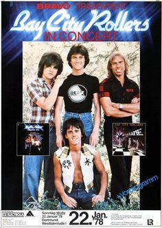 Bay City Rollers Where Will I Be Now 1978 - Original Konzertposter, Konzertplakat: Amazon.de: Küche & Haushalt