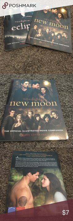 Twilight Eclipse and New Moon movie companions Like new set of movie companions with pictures. Great for any twilight lover. No price is set in stone so feel free to negotiate with the offer button. twilight Other