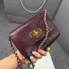 2016 Spring Mulberry Mini Lily Crossbody Bag Oxblood Deep Embossed Croc  Print Mulberry Outlet eb423014c5c07