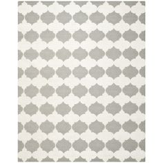 Safavieh Transitional Handwoven Moroccan Reversible Dhurrie Grey Wool Rug (6' x 9') - Overstock™ $218