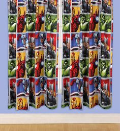 """Kids Bedroom Curtains - Marvel Avengers 54"""" and 72"""" Curtains - Super Hero"""