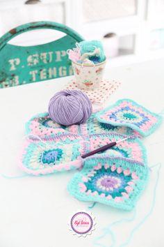 Syl loves, pastel, love, crochet, handmade, green, purple, pink, ming, mint, GreenGate, vintage