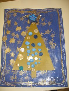 Xmas Crafts, Art For Kids, Cycle 1, Christmas, Painting, Xmas, Happy New Years Eve, Bricolage Noel, Blue