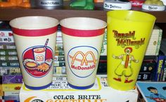 Patrick Owsley Cartoon Art and More!: VINTAGE McDONALD'S CUPS!