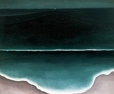 Not usually a fan, but this Georgia O'Keeffe painting is lovely. Wave, Night, oil on canvas, 1928.