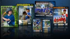 Baseball Photoshop templates fully customizable and editable for posters, memory mates and trading cards. Trading Card Template, Menu Card Template, Card Templates, Printable Business Cards, Custom Business Cards, Baseball Card Template, Baseball Cards, Kevin Greene, Menu Card Design