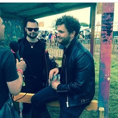 That smile is just so cute #mikekerr #benthatcher #royalblood