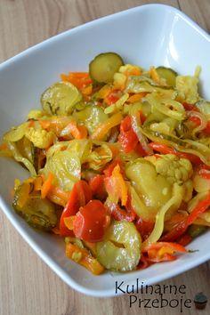 Sałatka z kalafiora i ogórków w kurkumie i musztardzie do słoików na zimę, przetwory z ogórków, przetwory z papryką, przetwory z kalafiorem, sałatka na zimę Tzatziki, Coleslaw, Preserves, Pasta Salad, Pickles, Main Dishes, Salads, Food And Drink, Homemade