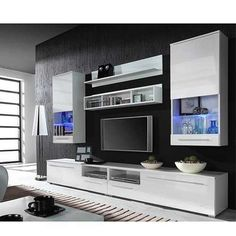 Entertainment wall units white item specifics tv storage units tv wall units ikea this white brimnes tv storage combination has plenty of extra space and Modern Tv Wall Units, Modern Wall, Modern Living, Modern Contemporary, Small Living, Wood Entertainment Center, Entertainment Products, Rack Tv, Hifi Rack