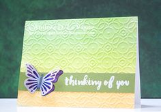 Butterfly Thinking of You by - Cards and Paper Crafts at Splitcoaststampers Tombow Markers, Vellum Paper, Butterfly Cards, Sympathy Cards, Distress Ink, 4 Kids, Embossing Folder, Scribble, Paper Size