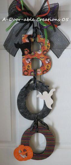 Halloween BOO Door Hanger by ADoorableCreations05 on Etsy, $49.00