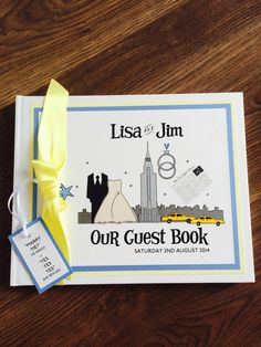 New York themed Wedding guest book Wedding Guest Book, Our Wedding, Marry Me, York
