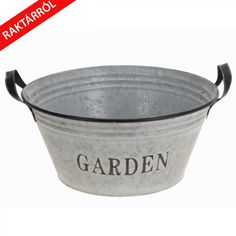 Heavy B kerti fém vödör galvanizált acélból ezüst színben Bucket, Aquarius