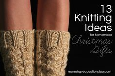 13 Christmas Knitting Ideas with links to free patterns