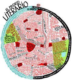 Mapa del Madrid literario. Ver en grande aquí: http://especiales.lainformacion.com/artes/el-madrid-literario/img/calles_1024x768.jpg