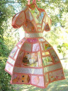 crochet robe de papier