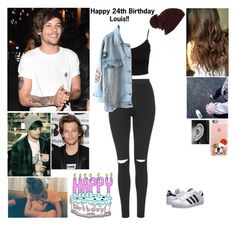 """Spending Lous birthday with him"" by cc-quinn ❤ liked on Polyvore featuring Topshop, Glamorous, adidas Originals, River Island and Casetify"