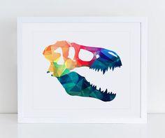 Dinosaur Head Printable Dinosaur Head Art Print by DecorartDesign