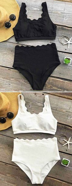Simple and classic, this baby is the answer to sip at the beach bar. The Swimsuit can shape perfect body detailed with solid color and high-waistline design. Beside, the high leg cut will reveal your slim long legs. No wonder, it's the amazing swimwear for this summer.