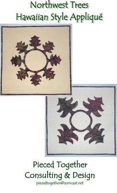 Northwest Trees Hawaiian Style Applique by PiecedTogetherDesign, $9.00