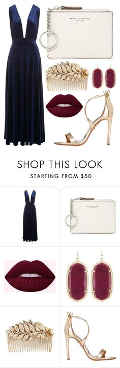 """""""elegant dock side dinner"""" by bunnybooy ❤ liked on Polyvore featuring Marc Jacobs, Kendra Scott, Miriam Haskell and Aquazzura"""