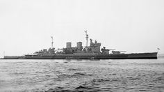 15 in battlecruiser HMS Renown, the last of her type in service, off Plymouth on August 2, 1945. 'The biggest destroyer in the fleet' had a distinguished WW2 career. She was heavily modernised in the late 1930s, unlike her sister Repulse - famously sunk with battleship HMS Prince of Wales by Japanese aircraft on 10 December 1941.
