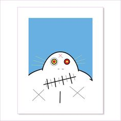 Grampa Screen Print (Limited Edition, Signed by Bartholomew Cubbins) #CREEPS #CREEPSbyCUBBINS  www.creepsbycubbins.com