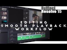 Learn Davinci Resolve 15   Editing, Smooth Playback & Workflow - YouTube Video Editing, Videography, Software, Smooth, Video Production, Learning, Youtube, Film, Movie