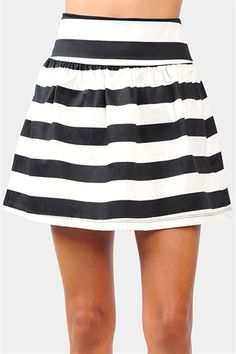Olivia Skirt - Black/White    would also look good in navy