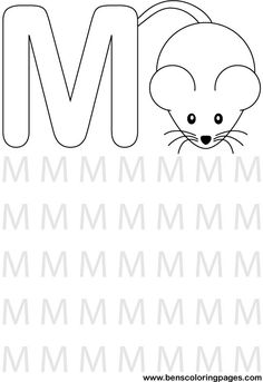 image detail for learning alphabet letter m preschool coloring pages