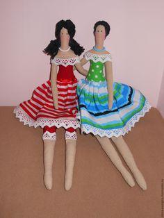 Купить Подружки) - тильда кукла, подарок девушке, подарок женщине, подарок на день рождения