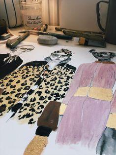 Gucci ss18 Fashion illustration Charlotte Righton #fashiondesigndrawings,