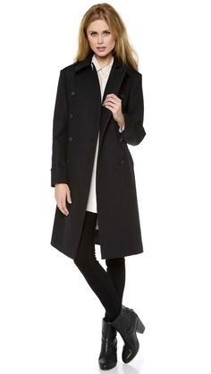 Rag & Bone Moss Coat. Great classic coat with a cut that compliments all shapes and sizes. Still tons of sizes left at SHOPBOP!