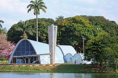 Oscar Niemeyer Architecture | Architectural Digest Chinese Architecture, Architecture Office, Futuristic Architecture, Architecture Photo, Office Buildings, Oscar Niemeyer, Congress Building, Concrete Sculpture, Zaha Hadid Architects